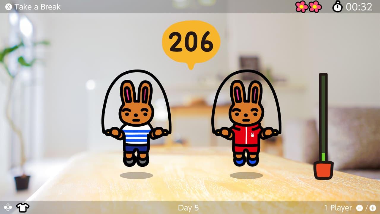 Switch《跳繩挑戰》限時免費下載,每日任務跳100次想瘦身必下3