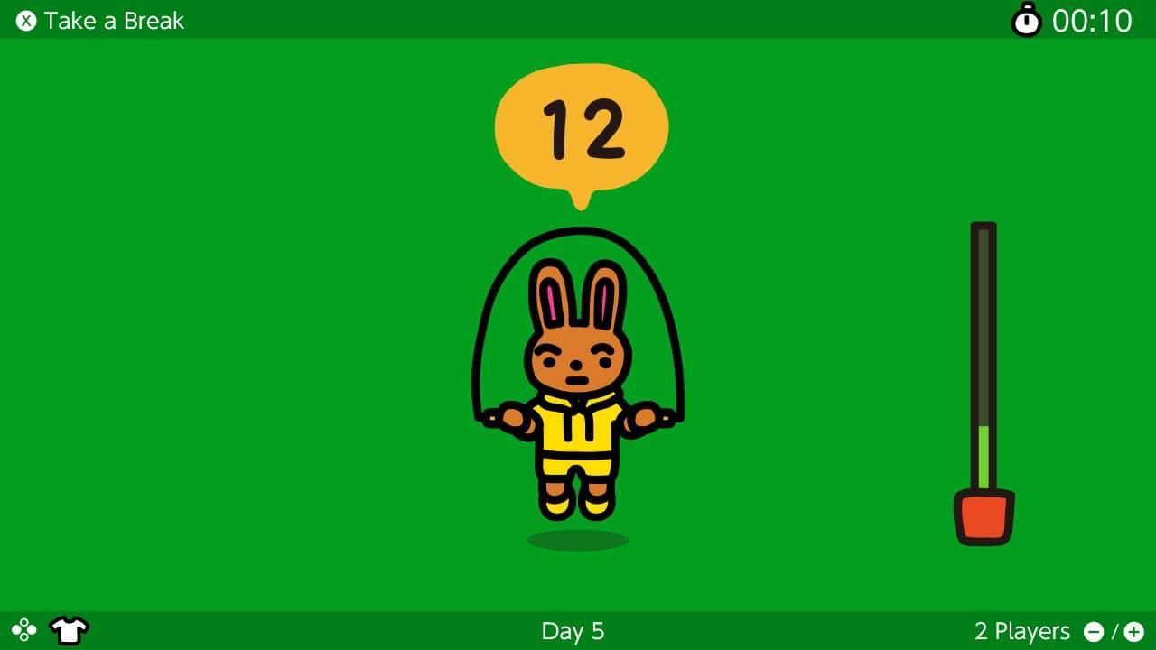 Switch《跳繩挑戰》限時免費下載,每日任務跳100次想瘦身必下1