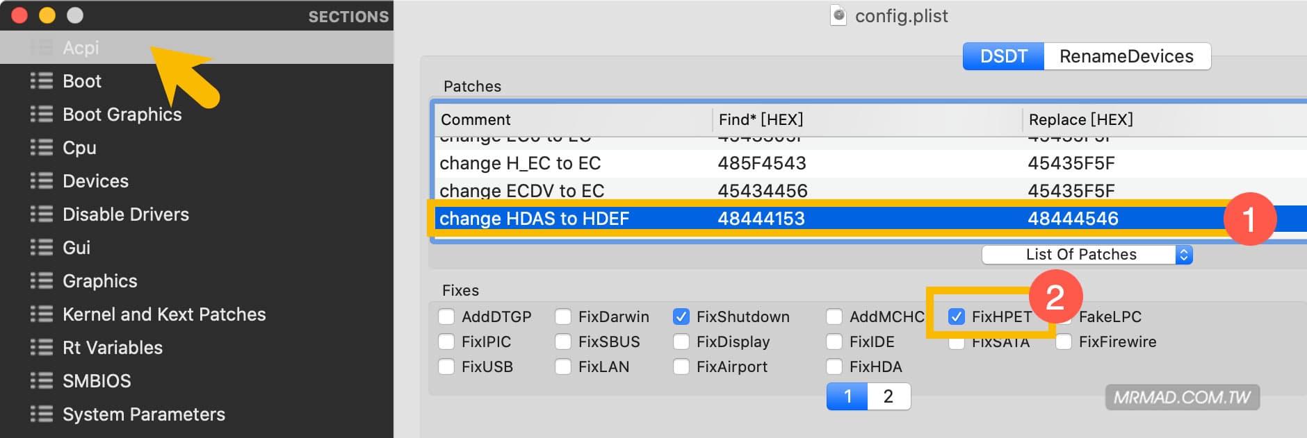 macOS 黑蘋果 AppleALC 仿音效驅動實現原生 AppleHDA 方式
