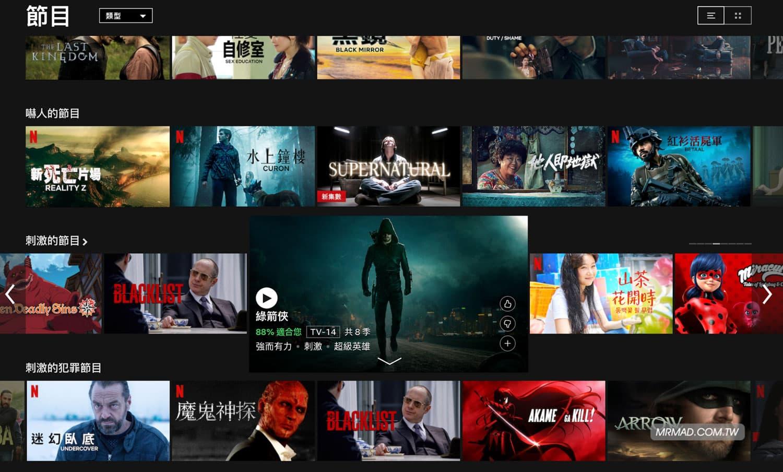 美國 Netflix 實測畫面1