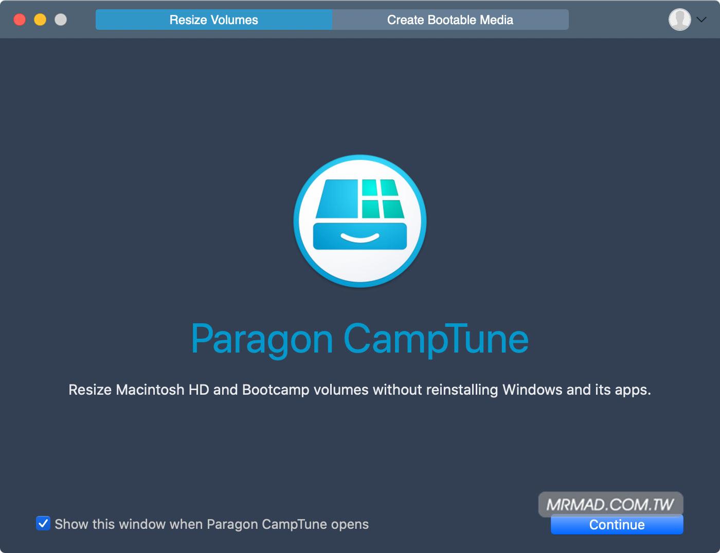 Paragon CampTune 調整 BootCamp 工具1