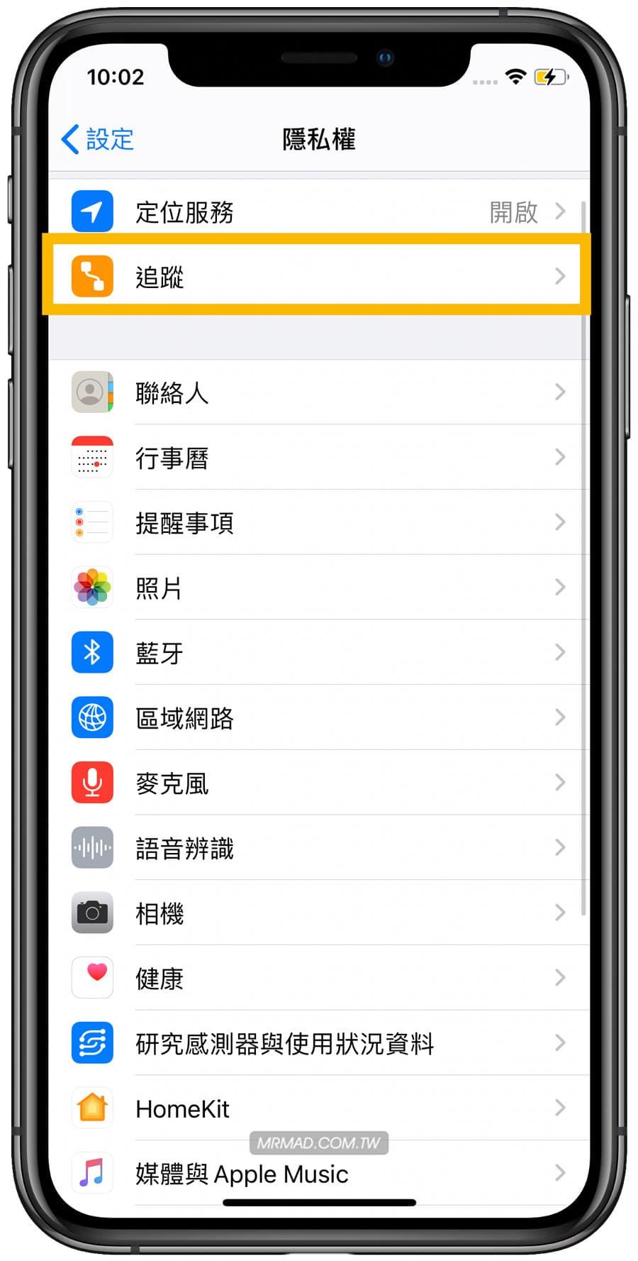 如何在 iOS 14 允許或關閉 iPhone 應用程式追蹤1