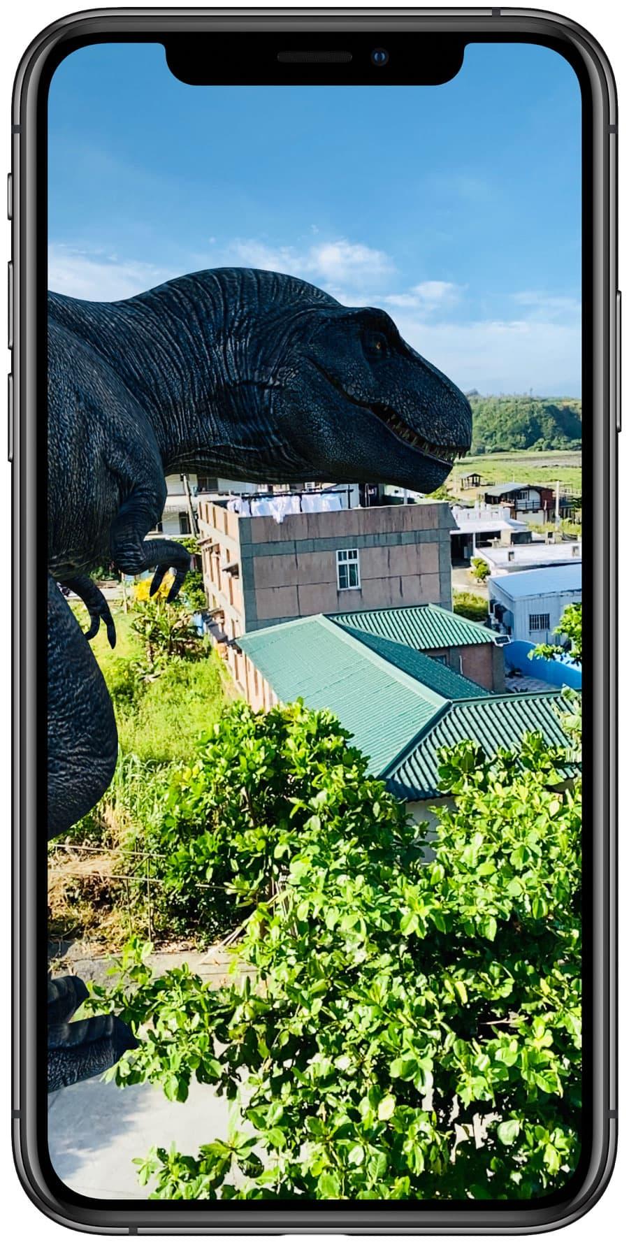 如何透過 Google 觀賞 AR 恐龍1