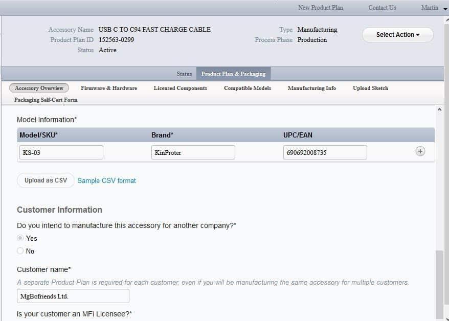 KinProter PD廠商MFi認證1