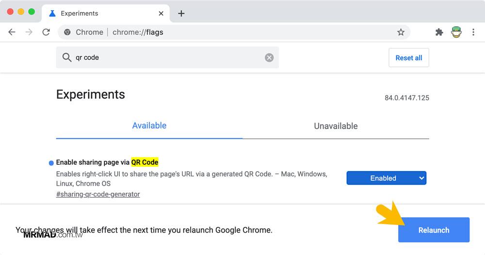 如何開啟 Chrome 內建 QR Code 產生器1