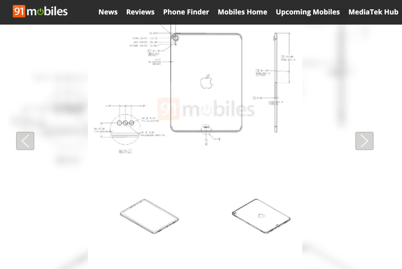 第八代 iPad 2020設計圖細節