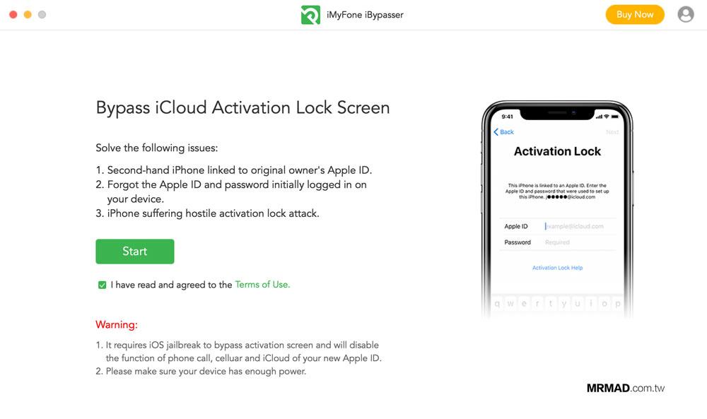 iMyFone iBypasser 繞過 iCloud 鎖定教學1