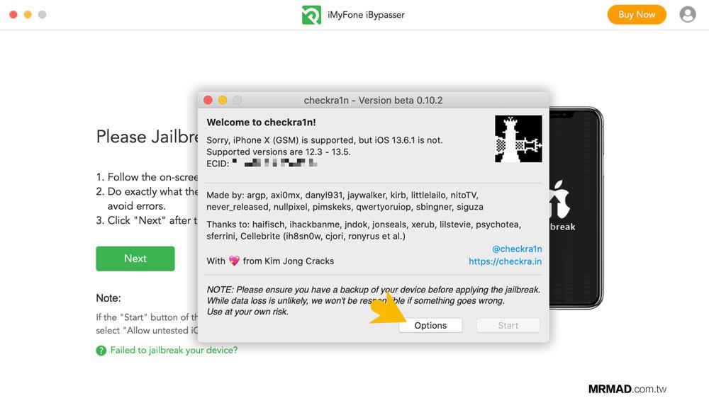 iMyFone iBypasser 繞過 iCloud 鎖定教學3