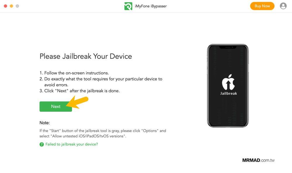 iMyFone iBypasser 繞過 iCloud 鎖定教學9
