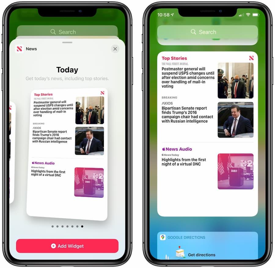 新增Apple News小工具