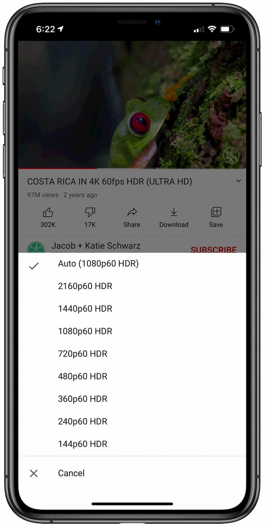 YouTube 支援 4K 解析度