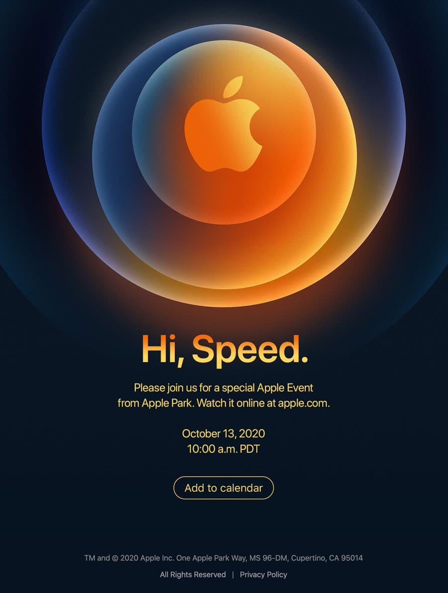 Apple蘋果發表會邀請函 Hi,Speed