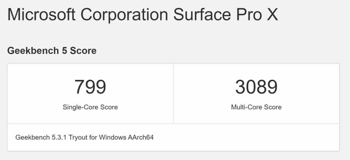 M1 Silicon Mac 跑Windows 10 效能超越 Surface Pro X