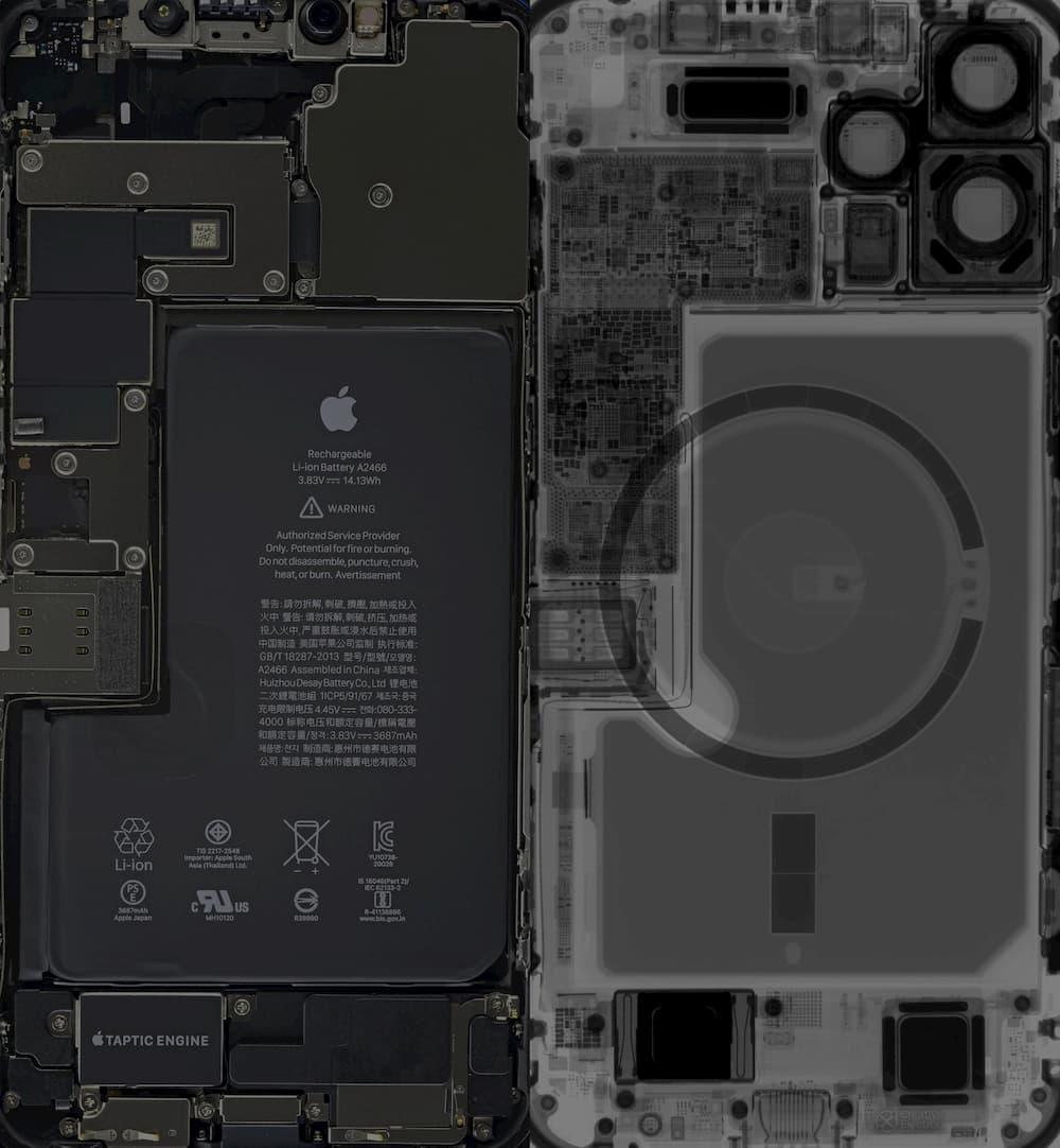 iPhone 12 Pro / iPhone 12 Pro Max 透明桌布、X光桌布下載 1