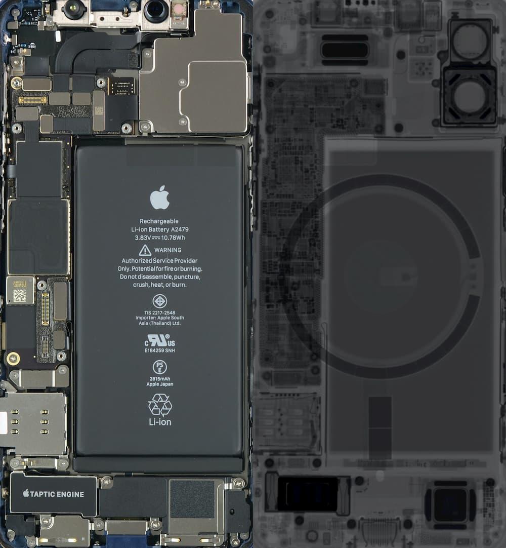 iPhone 12 mini / iPhone 12 透明桌布、X光桌布下載1