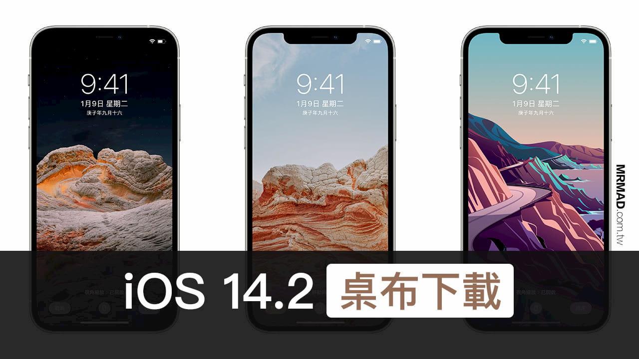 蘋果iOS 14.2 桌布免費下載8 款風格共16 張