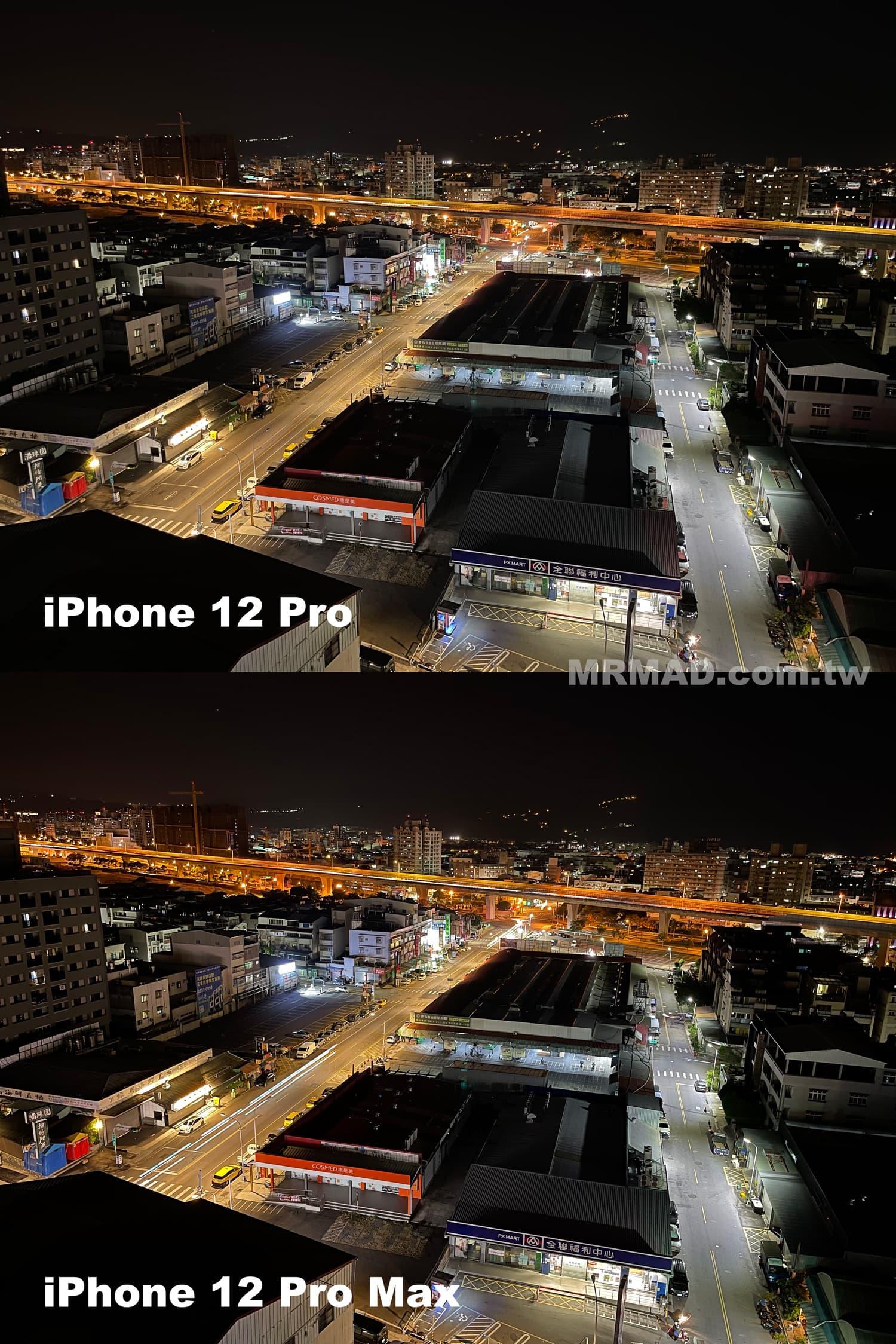 iPhone 12 Pro Max vs. iPhone 12 Pro 夜拍比較1