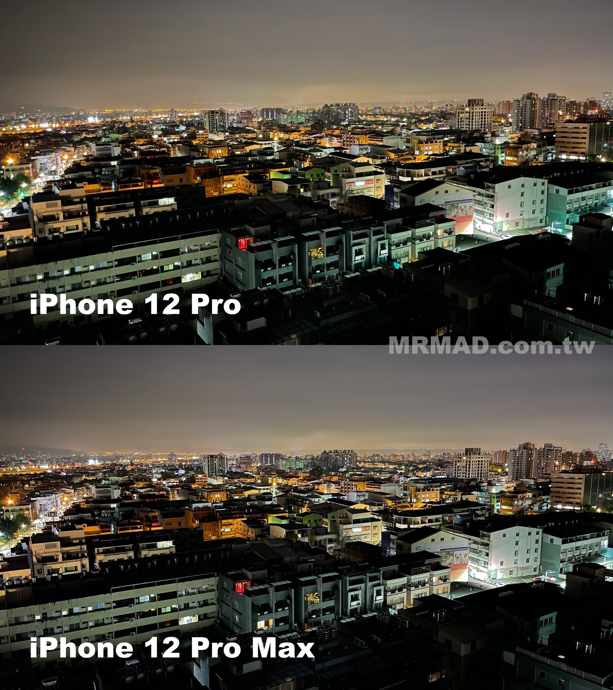iPhone 12 Pro Max vs. iPhone 12 Pro 夜拍比較3