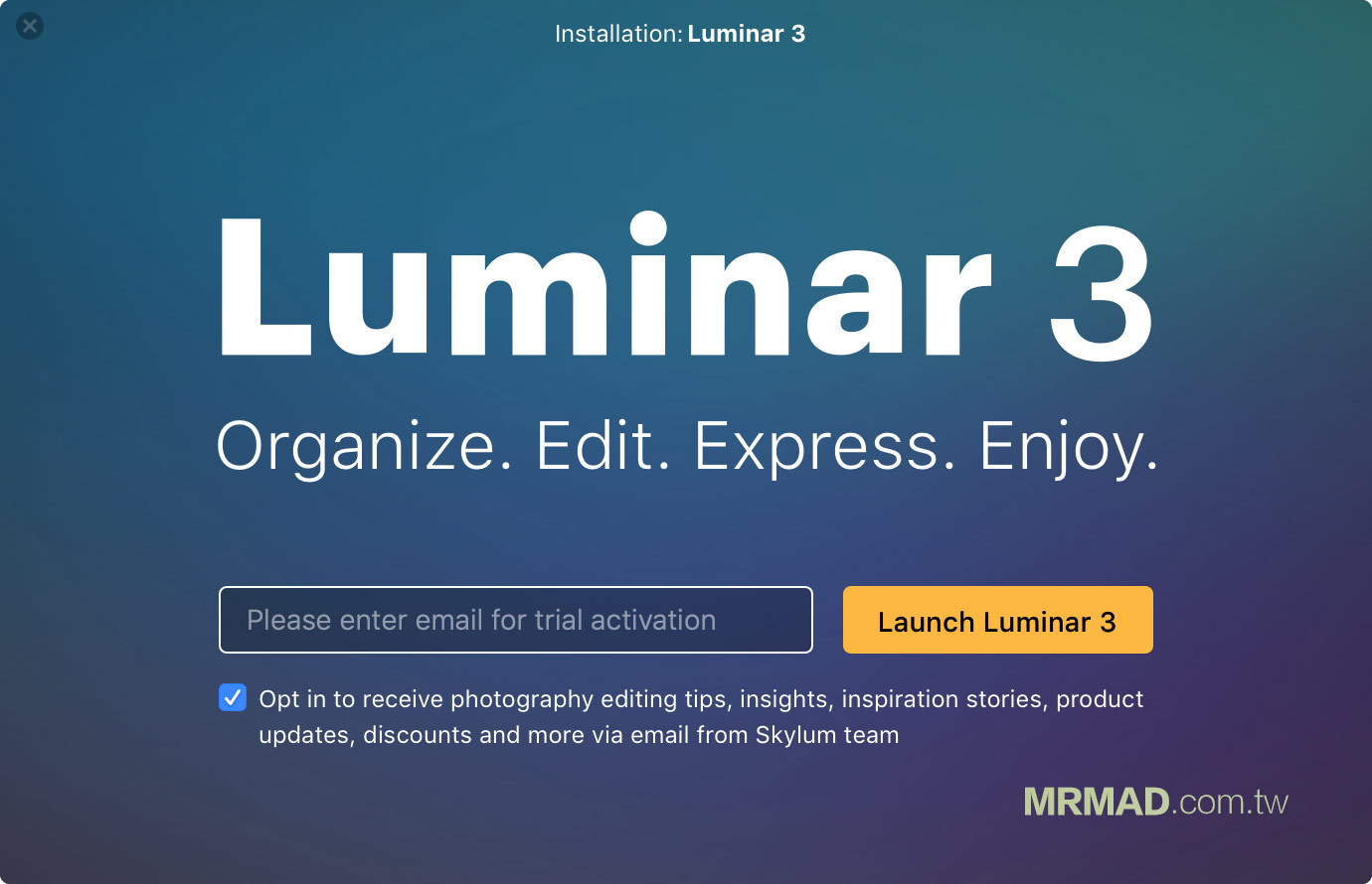免費下載 Luminar 3 正式版方法5
