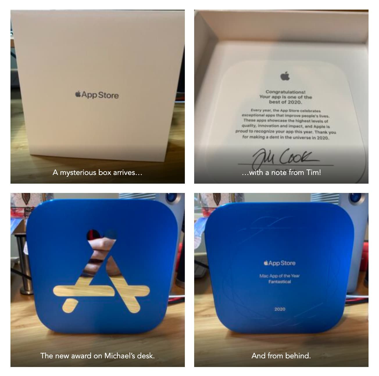 App Store 2020 最佳獎座實體開箱1