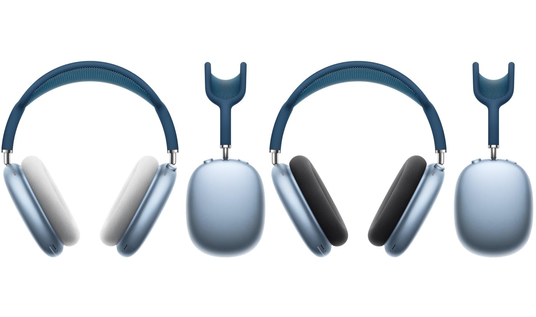 AirPods Max 天空藍搭配