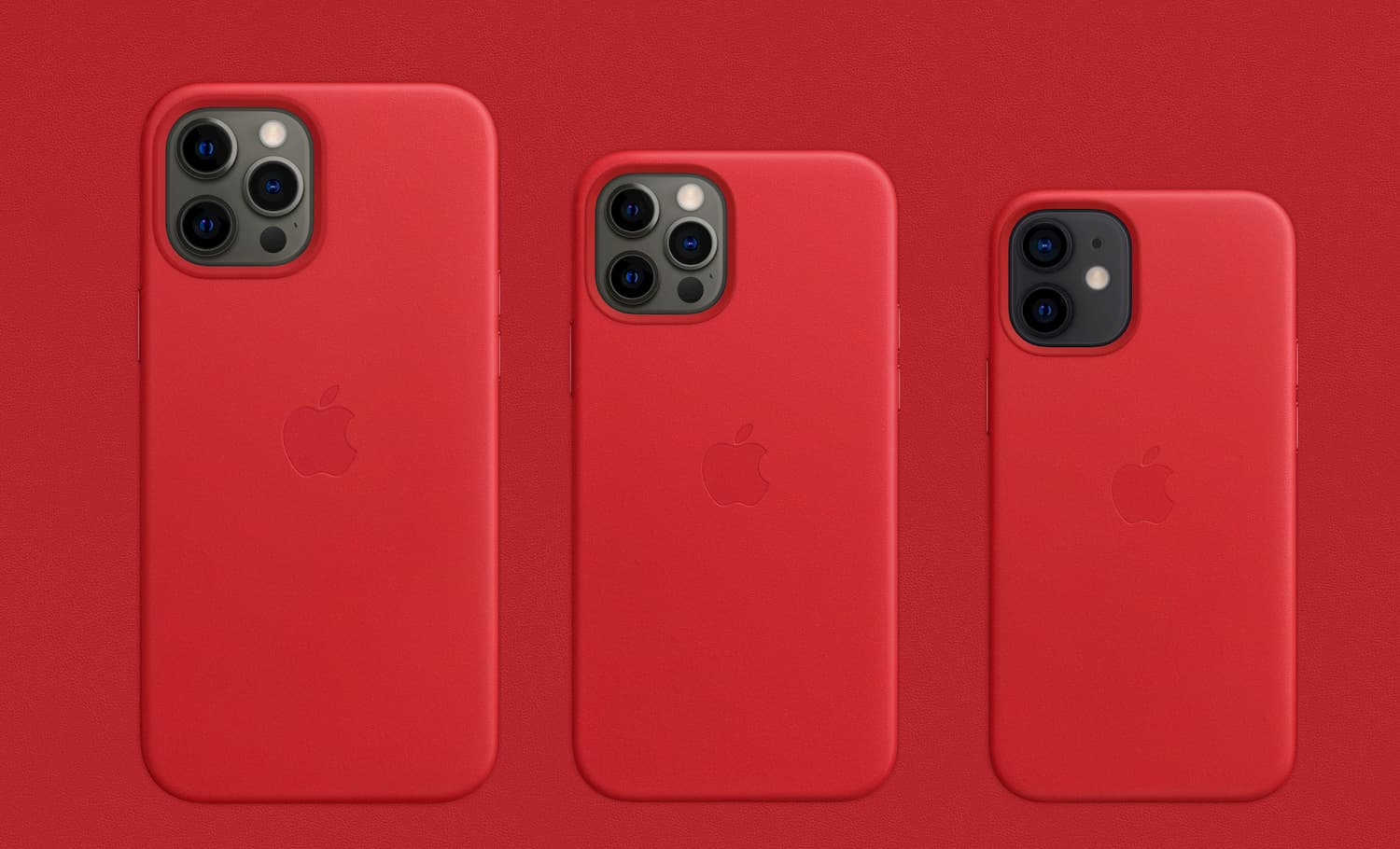 iPhone 皮革保護套和矽膠保護套 (PRODUCT)RED