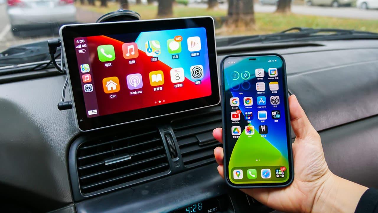 Apple CarPlay 無線款開箱,支援iPhone 無線連接、倒車顯影