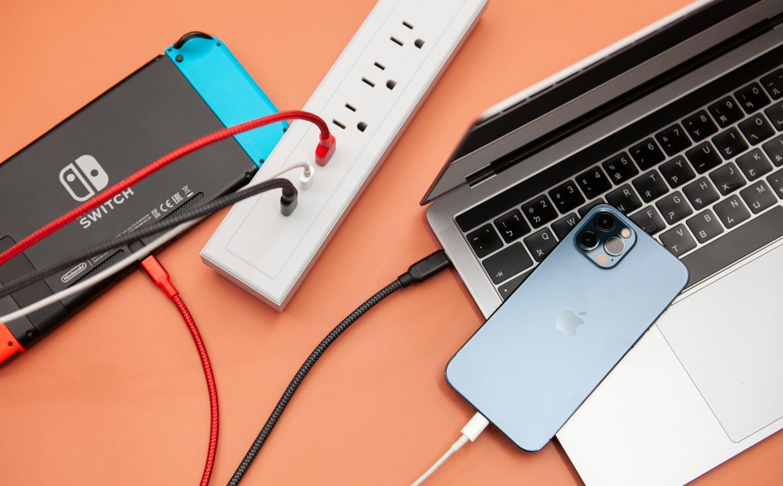 GaN 好快!快充延長線測試充Switch、iPhone和Macbook