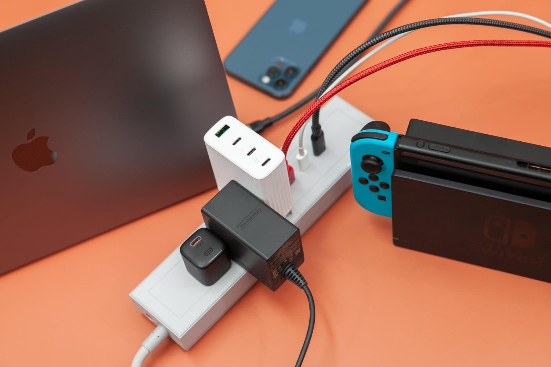 GaN 好快!快充延長線測試充Switch、iPhone和Macbook與插頭