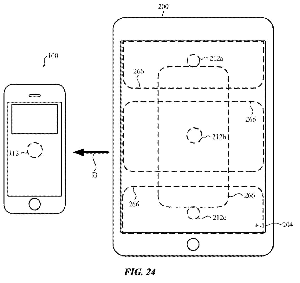 iPad 反向無線充電與 iPhone 交互設計
