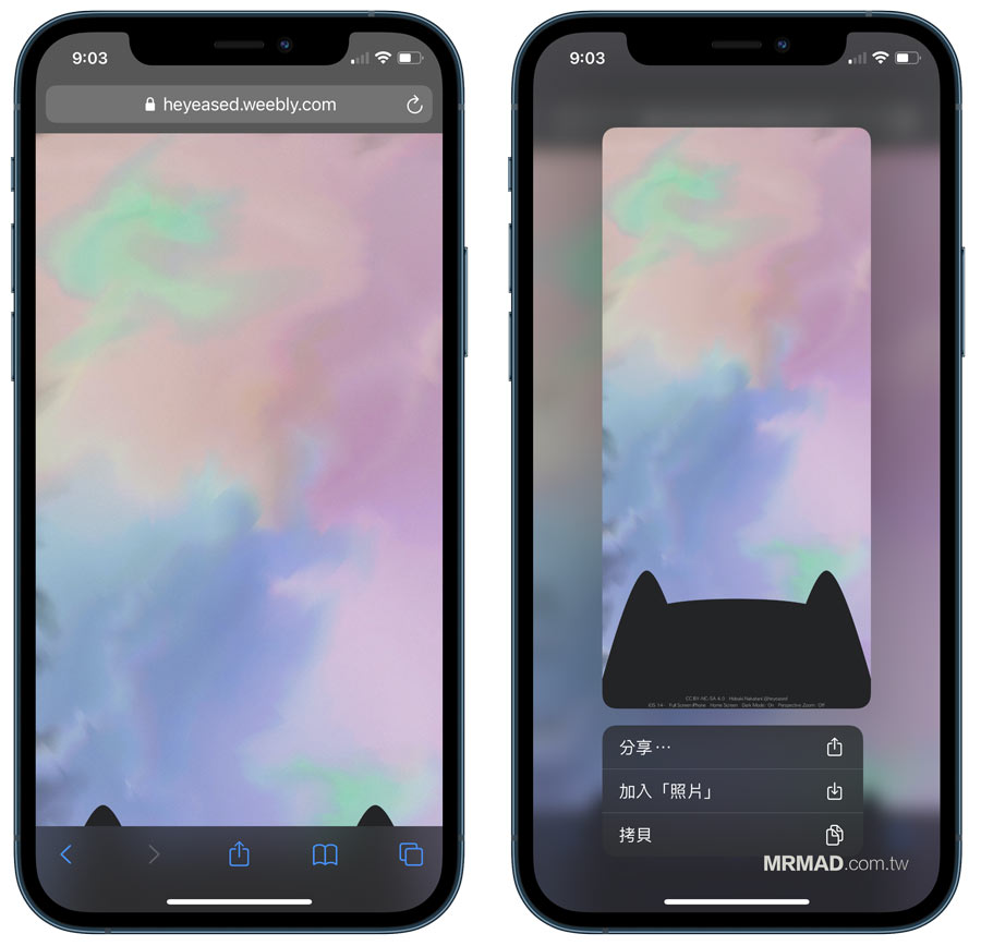 iPhone Dock 透明化隱藏教學,附加可愛貓與各類桌布素材