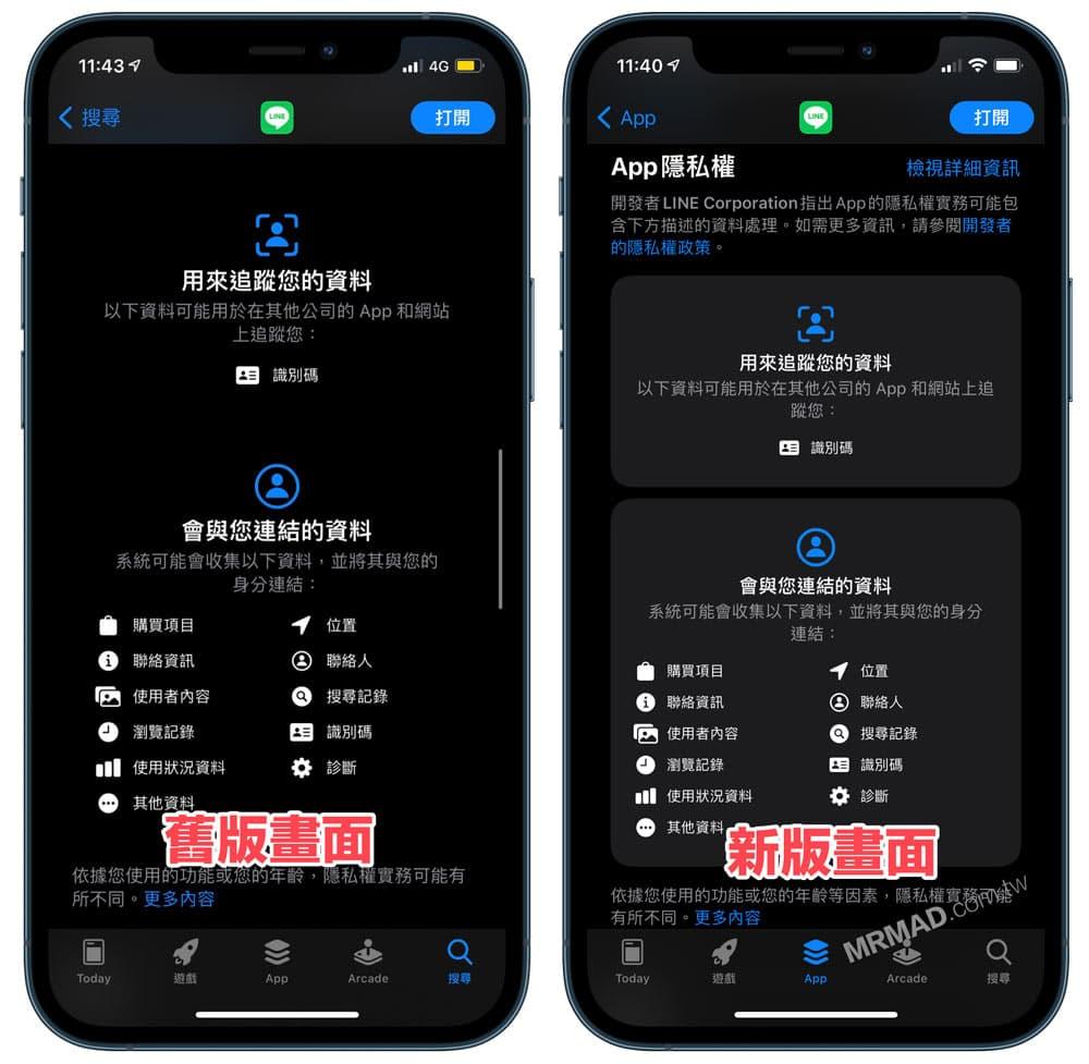 iOS 14.5 App Store 調整 App 隱私權風格