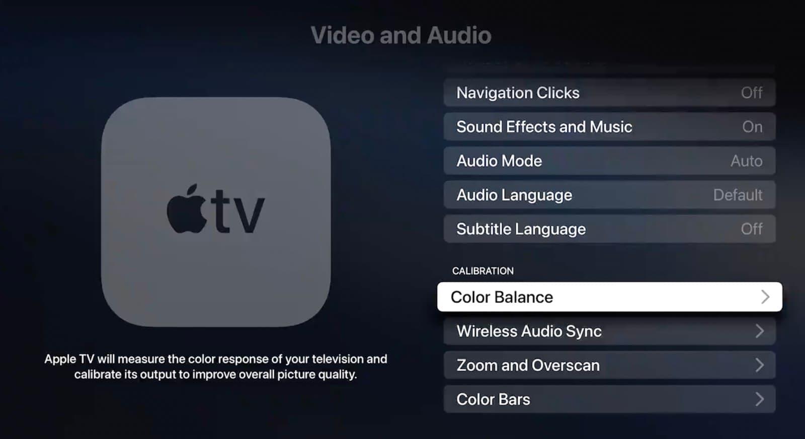 如何用 iPhone 替 Apple TV 電視實現色彩平衡處理