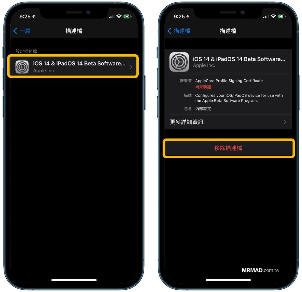 如何替 iPhone / iPad 刪除Beta描述檔案(iOS 14 Beta刪除步驟)1