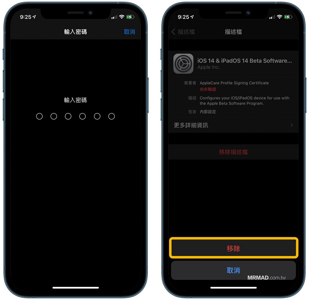 如何替 iPhone / iPad 刪除Beta描述檔案(iOS 14 Beta刪除步驟)2