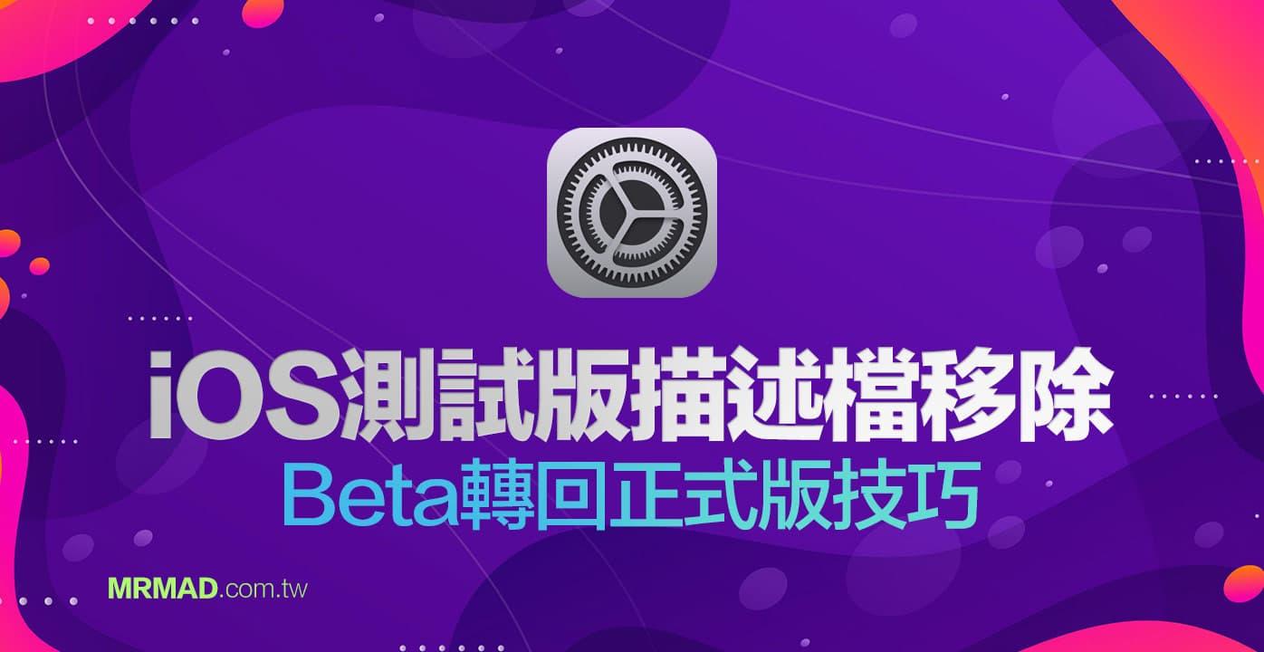 iOS14描述檔刪除方法,替iPhone 從Beta 轉回正式版技巧