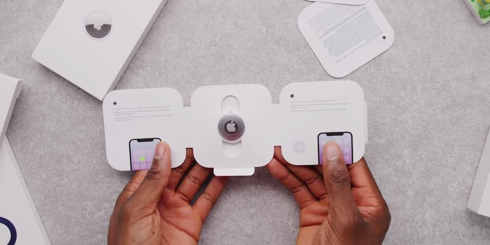 AirTag 開箱外觀就像是白板磁鐵