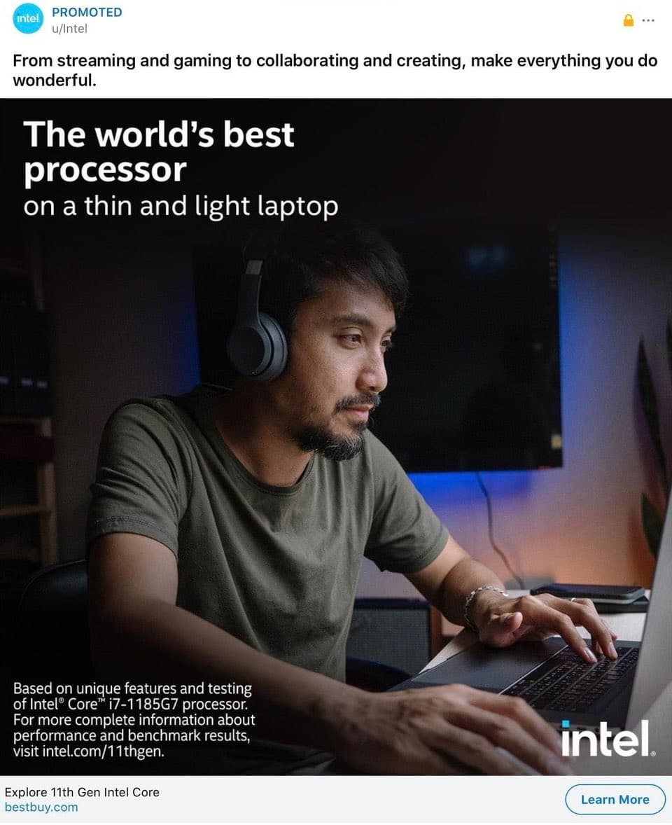 Intel 廣告承認「世界最好的處理器」是MacBook Pro 筆電1