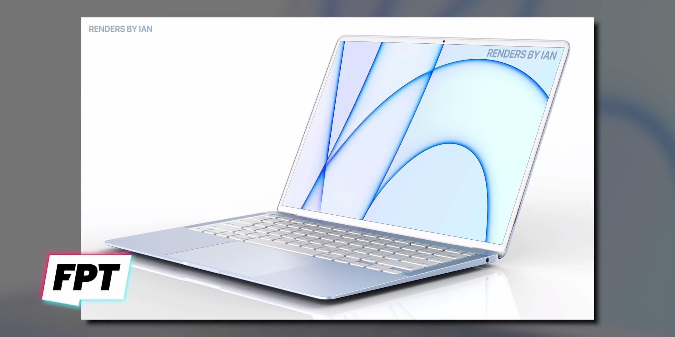 蘋果藍色款MacBook Air 2021模擬圖1