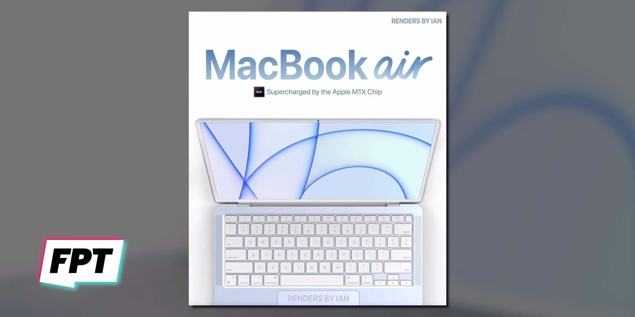 蘋果藍色款MacBook Air 2021模擬圖2