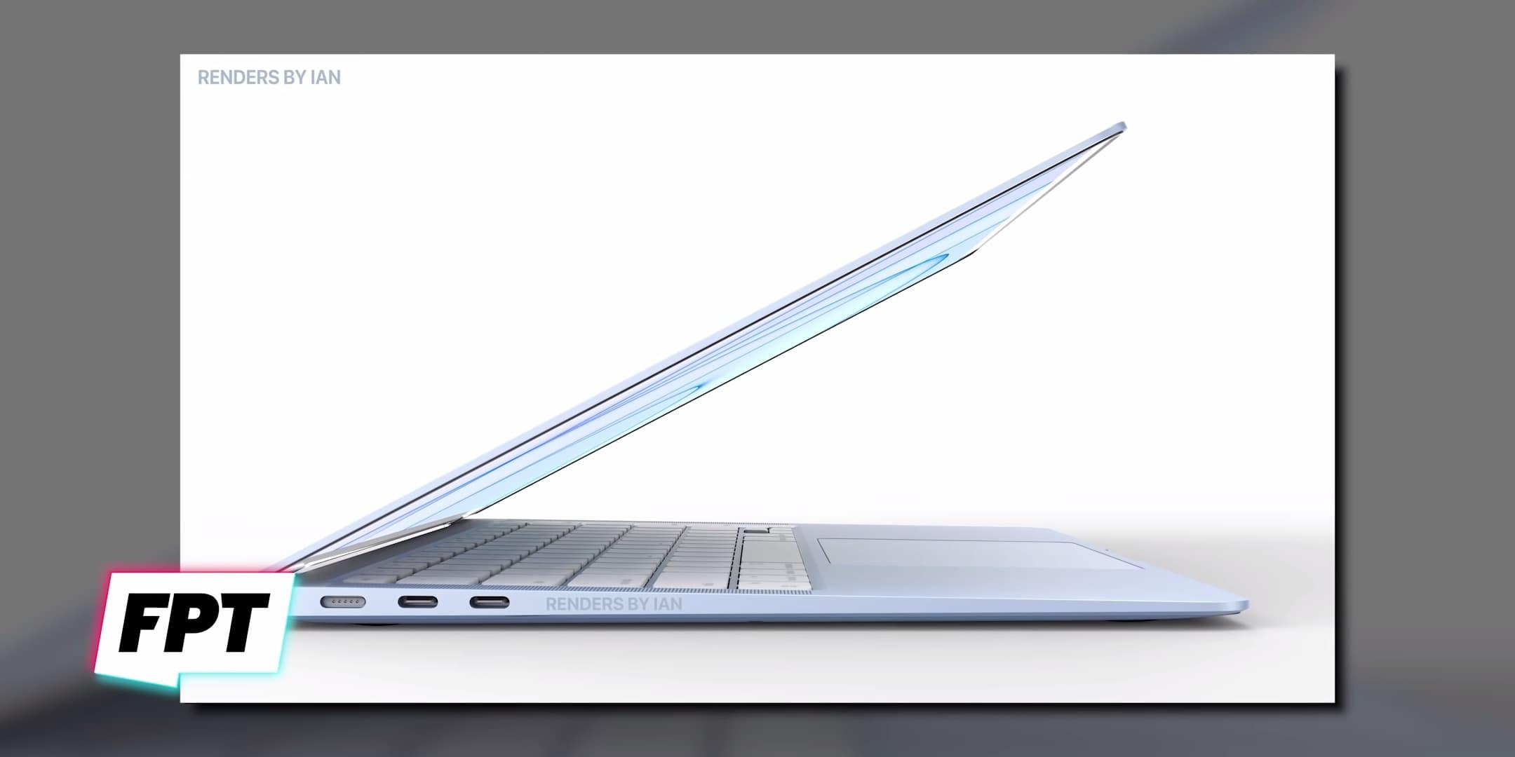 蘋果藍色款MacBook Air 2021模擬圖