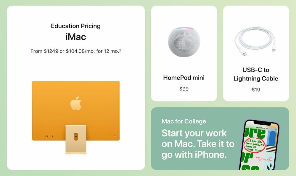 哪些Apple產品包含在2021開學專案內