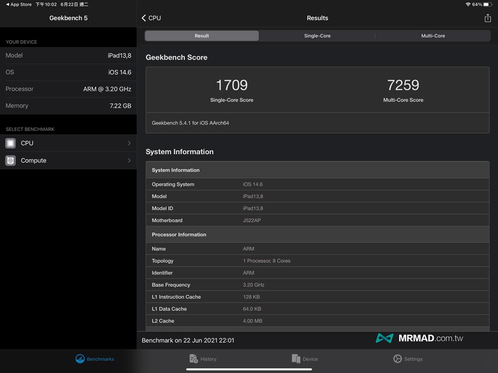 M1 處理器效能有多快?碾壓舊款 iPad 產品線