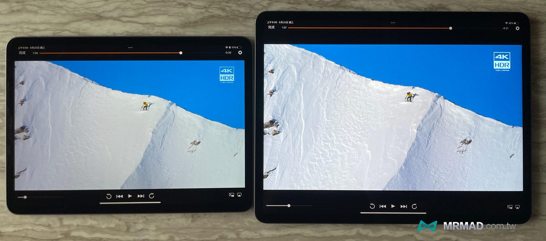 iPad Pro 2021和iPad Pro 2020畫面比較
