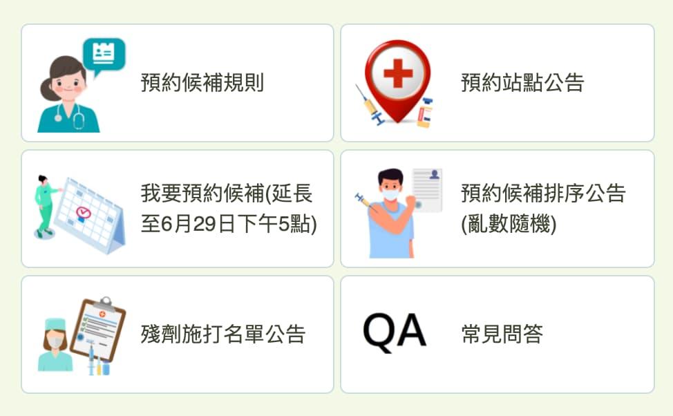 台中市新冠疫苗殘劑預約方法