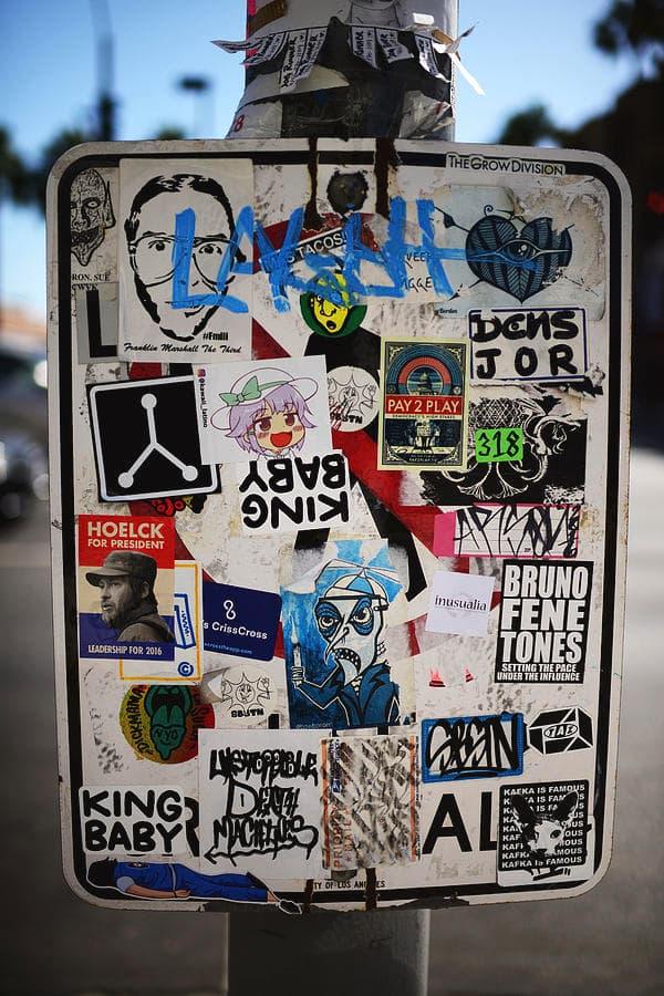美國街頭文化貼紙