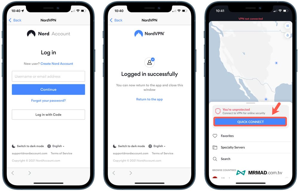 NordVPN 手機版功能介紹(iPhone、Android)1