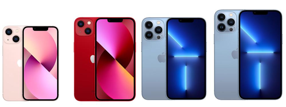 iPhone 13系列:iPhone 13 mini、iPhone 13、iPhone 13 Pro、iPhone 13 Pro Max