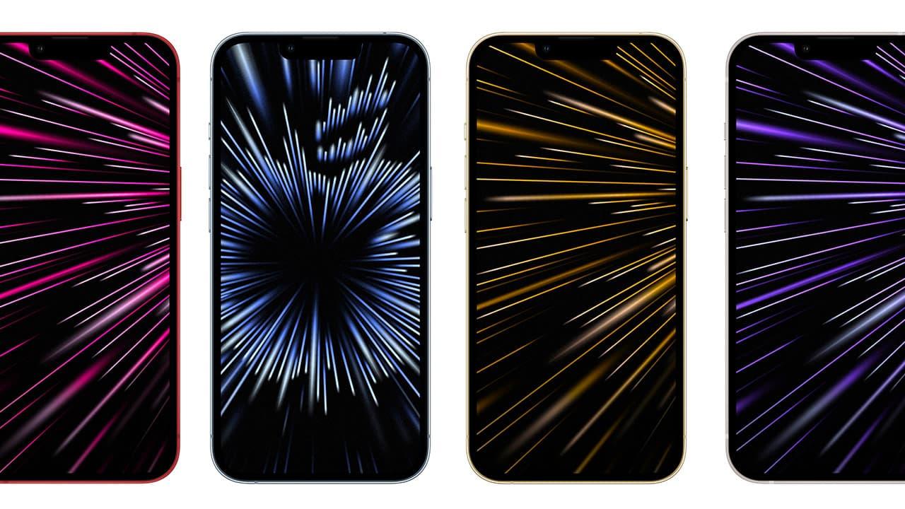 2021年10月蘋果發表會桌布下載,9張放射iPhone桌布免費套用