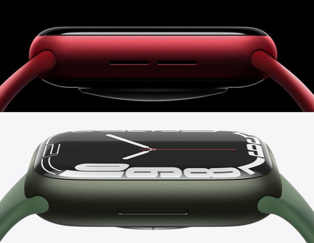 上圖 Apple Watch S6 側邊,下圖 Apple Watch S6 側邊